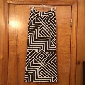 ANTHROPOLOGIE geometric skirt